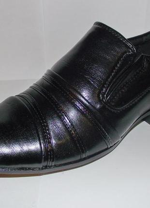 Стильные туфли для мальчиков черные y-top 36 разм