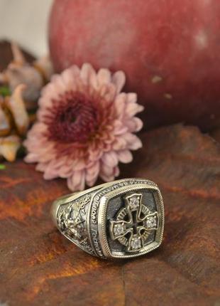 Мужское кольцо с георгием победоносцем