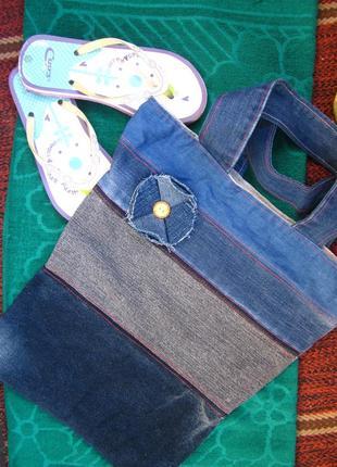 Сумка пляжная_шоппер+подарок!_комплект-сумка и вьетнамки