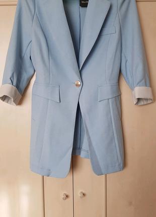 Голубой кардиган или пиджак
