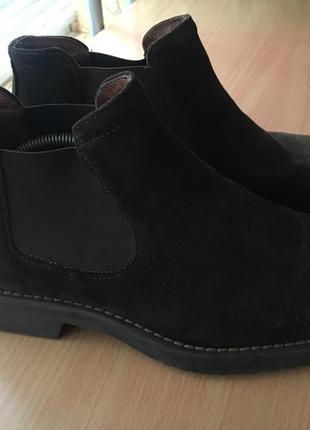 Ботинки. натуральний замш