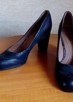 Оригинальные кожаные женские туфли marc o'polo чёрного цвета, ...