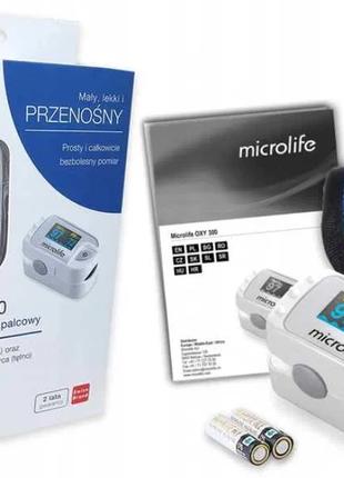 Пульсоксиметр импульсный Microlife OXY 300 (батарейки), Наложка