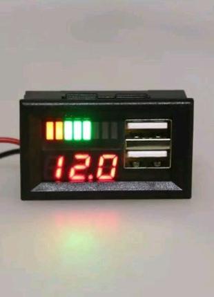 Зарядное USB устройство с вольтметром и индикацией