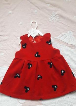 Платье сарафан с микки маус