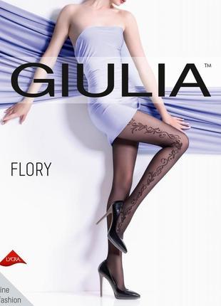 Колготки с боковым узором от giulia 40 ден 2 3