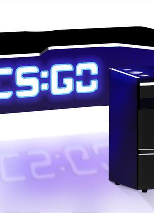 Компьютерный геймерский стол CS-GO с led подсветкой