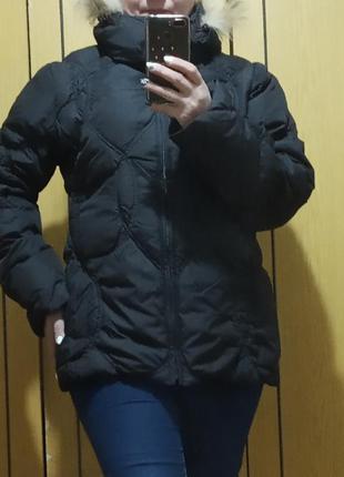 Пуховик зимний с капюшоном и мехом, куртка зимняя