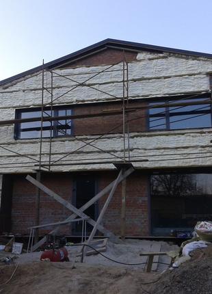 Утепление домов (фундамент, стены, крыша, мансарда), промздани...