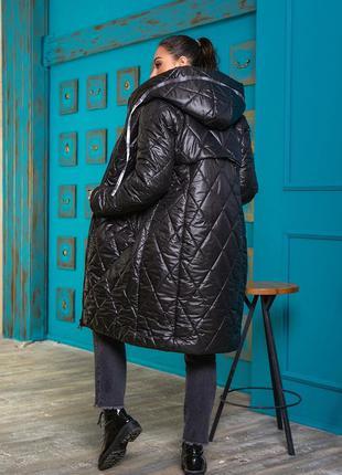 Зимний плащ пальто куртка женская