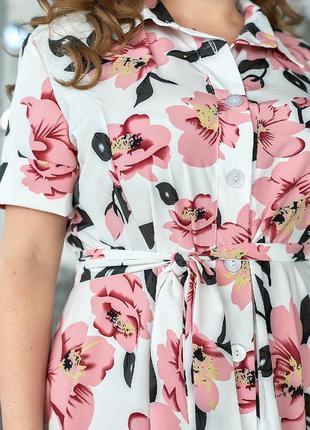 Платье батал большого размера летнее