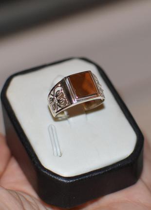 Серебряная печатка с золотыми накладками