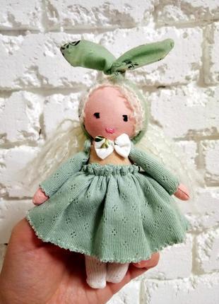 Милая кукла ручной работы тильда игрушка из ткани тряпичная кукла