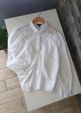 Рубашка белая  New Look хлопок оверсайз