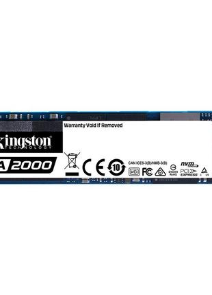 Накопитель SSD 250GB Kingston A2000 M.2 2280 PCIe NVMe 3.0 x4 3D