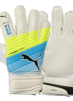 Надежные вратарские перчатки подростковые puma evopower protec...
