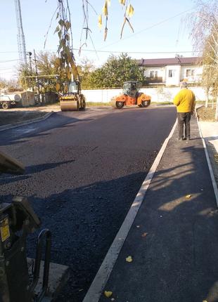 Укладка асфальта ямочний ремонт дорог асфальтние роботы Одесса