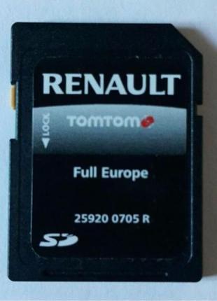 GPS карти навігації Renault (рено) карти навігатора TomTom