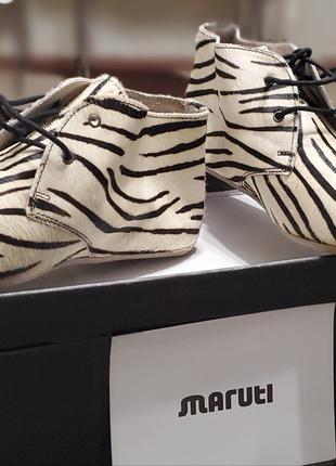 Ботинки женские Maruti с принтом под зебру. Италия. 38 размер.