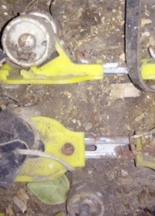 Ролики детские 4 колесные регулируются лыжы трекинговые палки ...