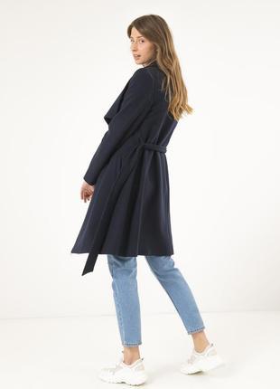 Осеннее женское пальто season темно-синие