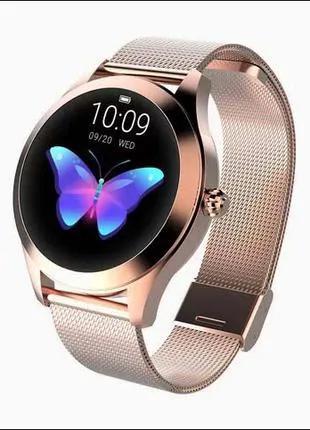 Роскошные женские смарт часы KW10 умные часы фитнес браслет