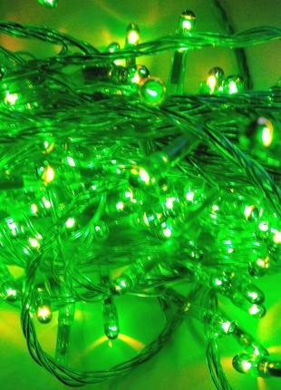 Гирлянда зелёного цвета, 140 ламп, накала, 5 метров