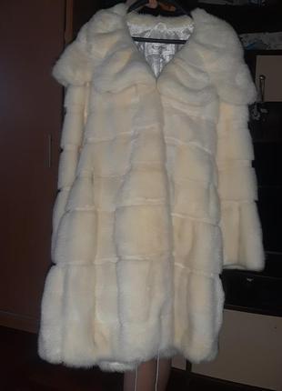 Шикарная норковая шуба очень густая размер 42-44