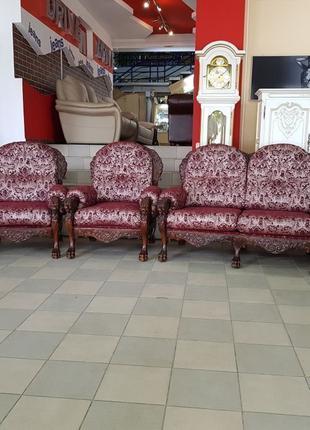 Новый комплект мягкой мебели Львы диван кресло 3+2+1 Бельгия