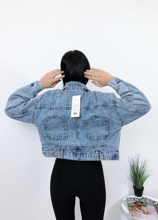 Джинсовка винтаж оверсайз джинсовый пиджак куртка джинс