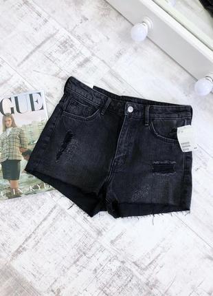 Джинсовые шорты высокая посадка винтаж h&m