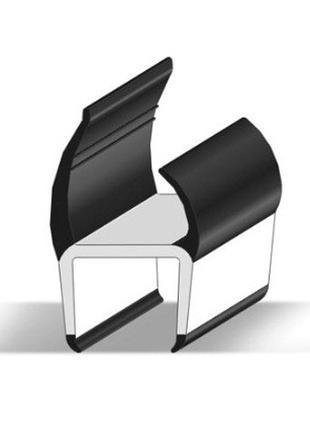 Уплотнитель для ворот фургонов резиновый Alta, 27,2 мм