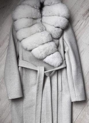 Пальто с пехом песца