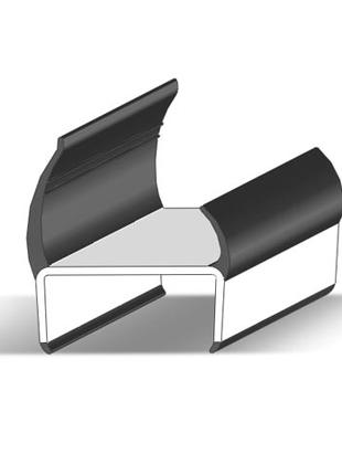 Уплотнитель дверной резиновый на прицеп, полуприцеп Alta, 47 мм