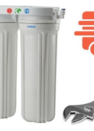 Монтаж двойных и тройных фильтров для воды. Установка фильтра ...