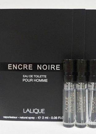 Lalique Encre Noire_Оригинал EDP_3 мл затест парф.вода