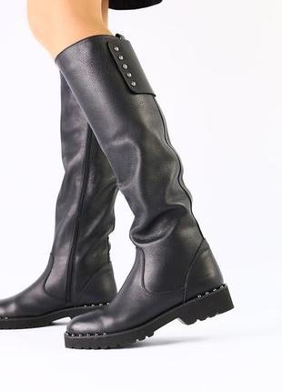 Lux обувь! идеальные стильные высокие зимние высокие сапоги на...