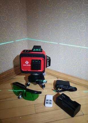 Лазерный уровень нивелир Shijing 3D Green (3*360) Японские диоды