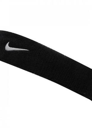 Повязка на голову nike swoosh headband black/white