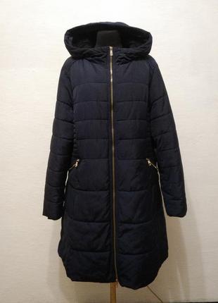 Стильное демисизонное пальто большого размера