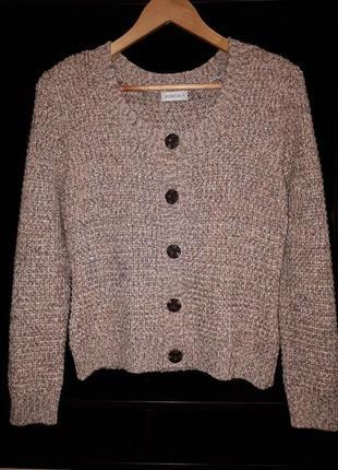 Тёплый вязаный свитер с люрексом раз.м