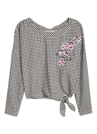 Классная блузка с вышивкой h&m 12-13 лет