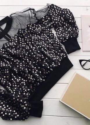 Блуза кофта с пайетками