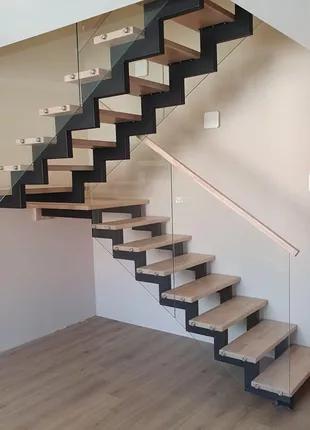 Металлокаркасные лестницы под заказ