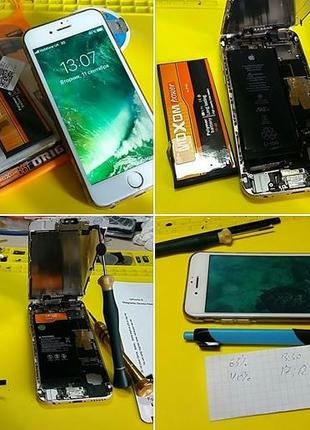 Ремонт и обслуживание iPhone 4, 4S, 5, 5S, 5SE, 6, 6+, 6s, 6s+...