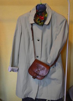 Тренч plus size осень/весна плащ пальто большого размера