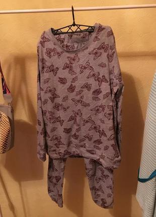 Нова пижама с бабочками натуральный хлопок/ шикарное качество