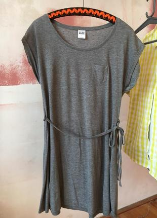 Пляжное платьице с поясом платье плаття туника тунiка