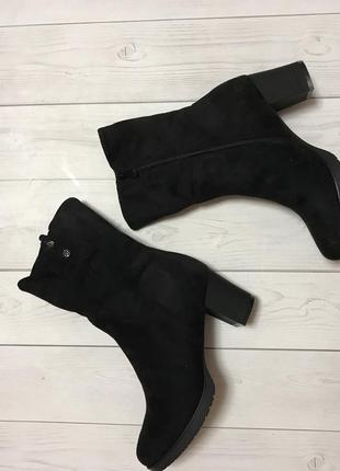 Демисезонные сапожки ботинки на каблуке