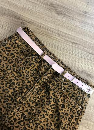 Леопардовая юбка тренд лета